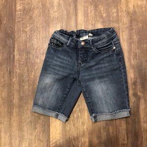 Medium length children's blue shorts from Cherokee